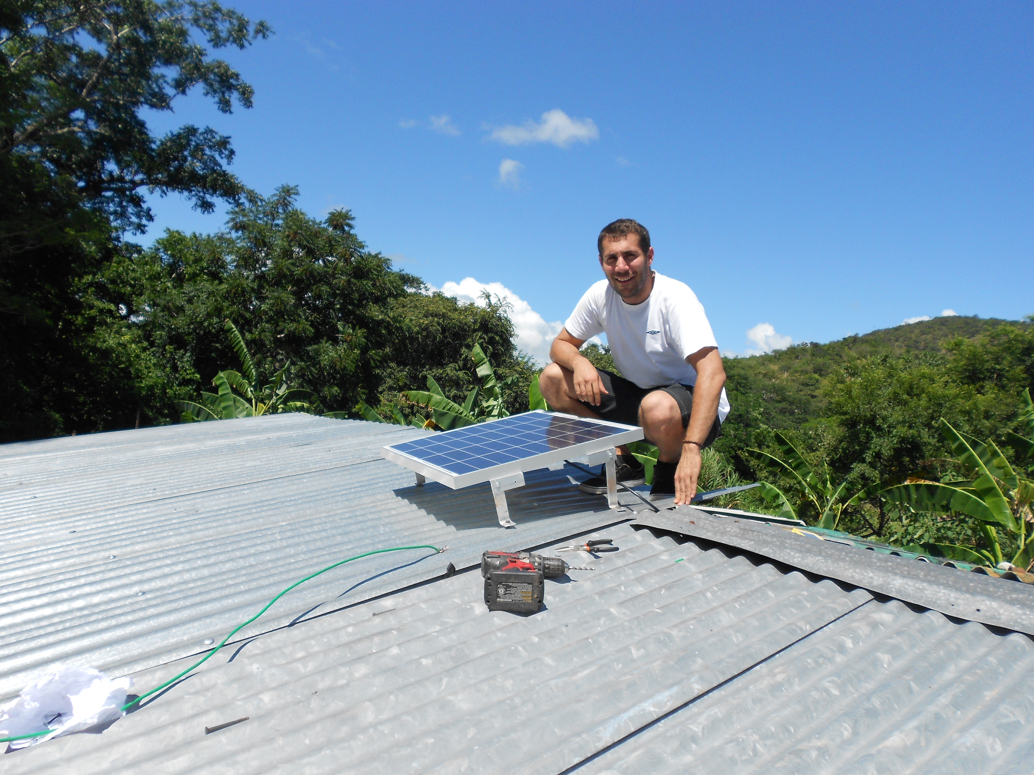 Andrés, working in Nicaragua for the NGO Grupo Fénix