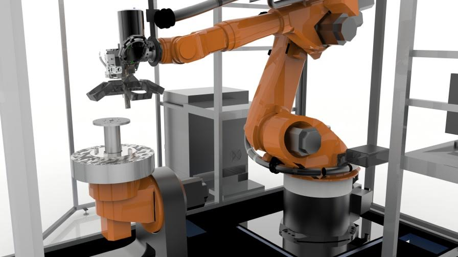 Stratasys Robotic Composite 3D Demonstrator part: