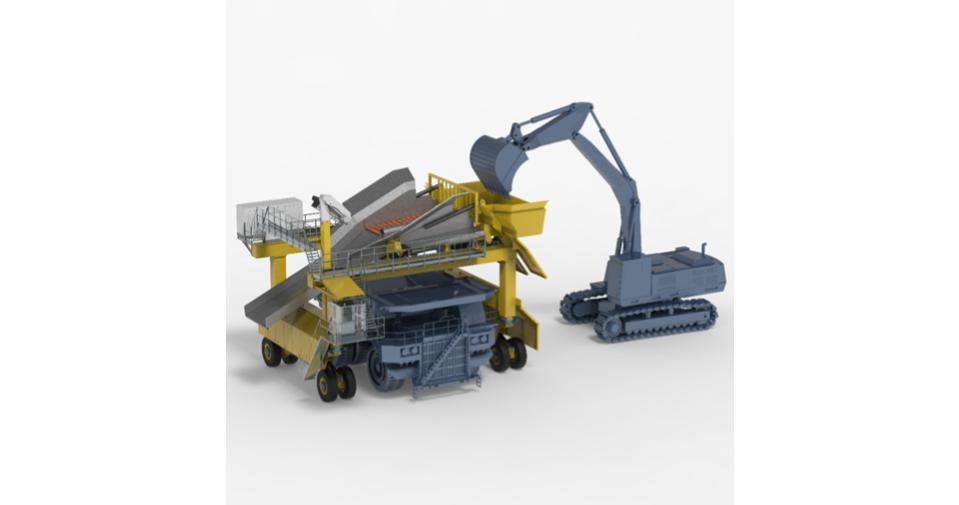 Mobile Gantry and Roller Scalper/Screener for Surface Mines